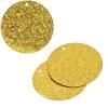 Sequins Hologram 30mm 1mm Hole Round Marigold